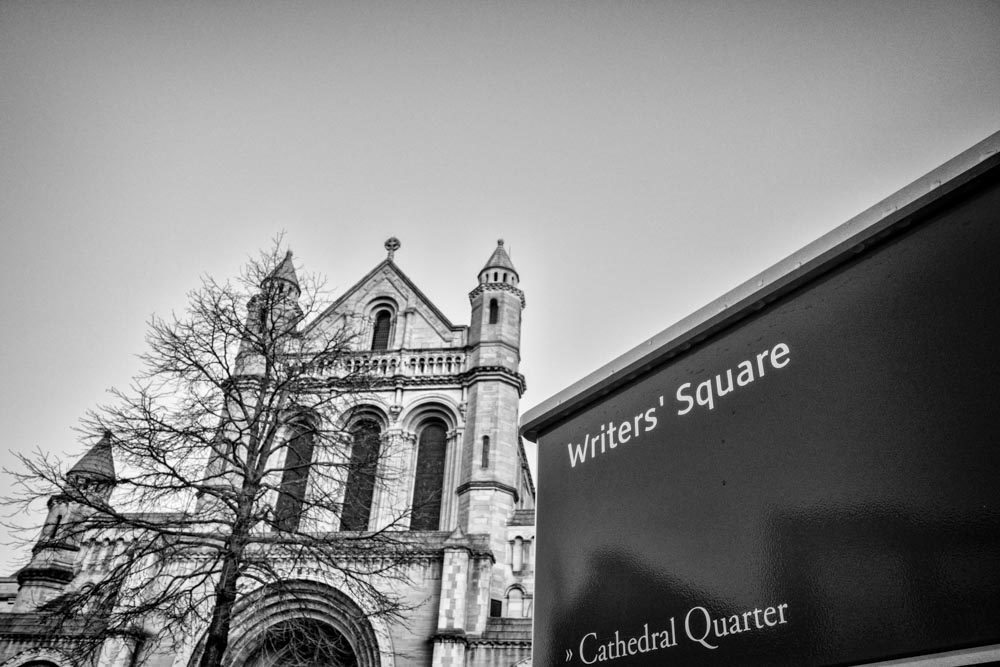 Belfast Cathedral, St. Anne's from Writer's Square