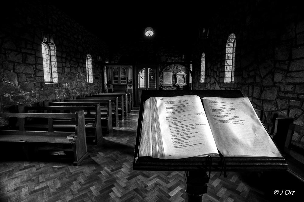 Open Bible in Saul Church, Downpatrick, County Down