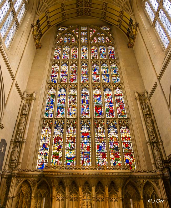 Bath Abbey, Stained glass window