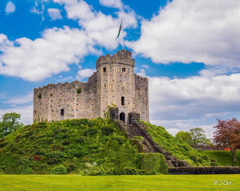 The Keep, Cardiff Castle. The twelve-sided Keep at Cardiff is the finest in Wales and is known as a 'shell' keep.