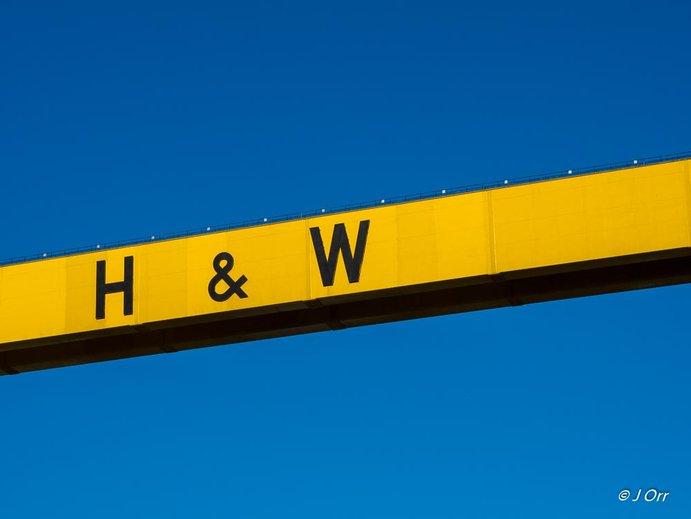 Section of one of the Harland and Wolff cranes, Samson and Goliath