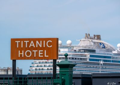 Titanic Hotel sign