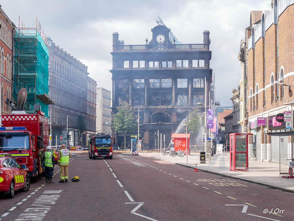 Fire, Primark, Belfast