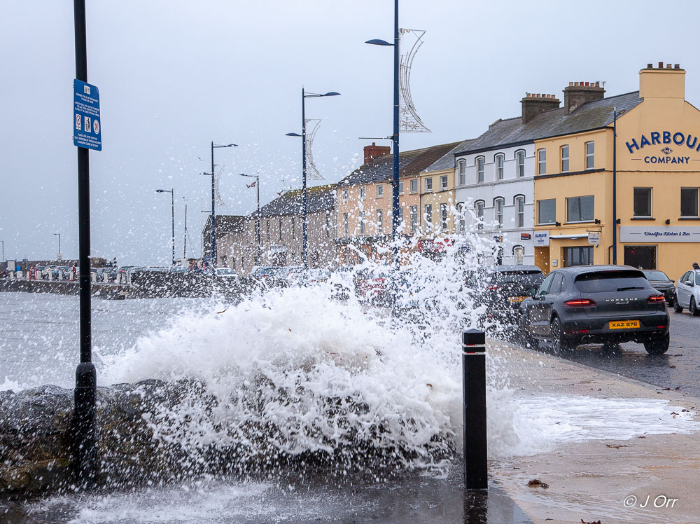 The tail end of storm Diana hits Northern Ireland.