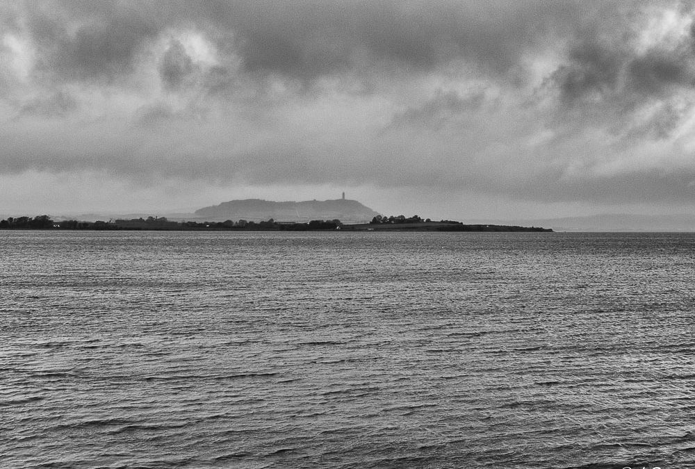 Rain on Strangford Lough