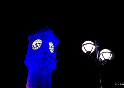 McKee Clock, Bangor, Northern Ireland at night