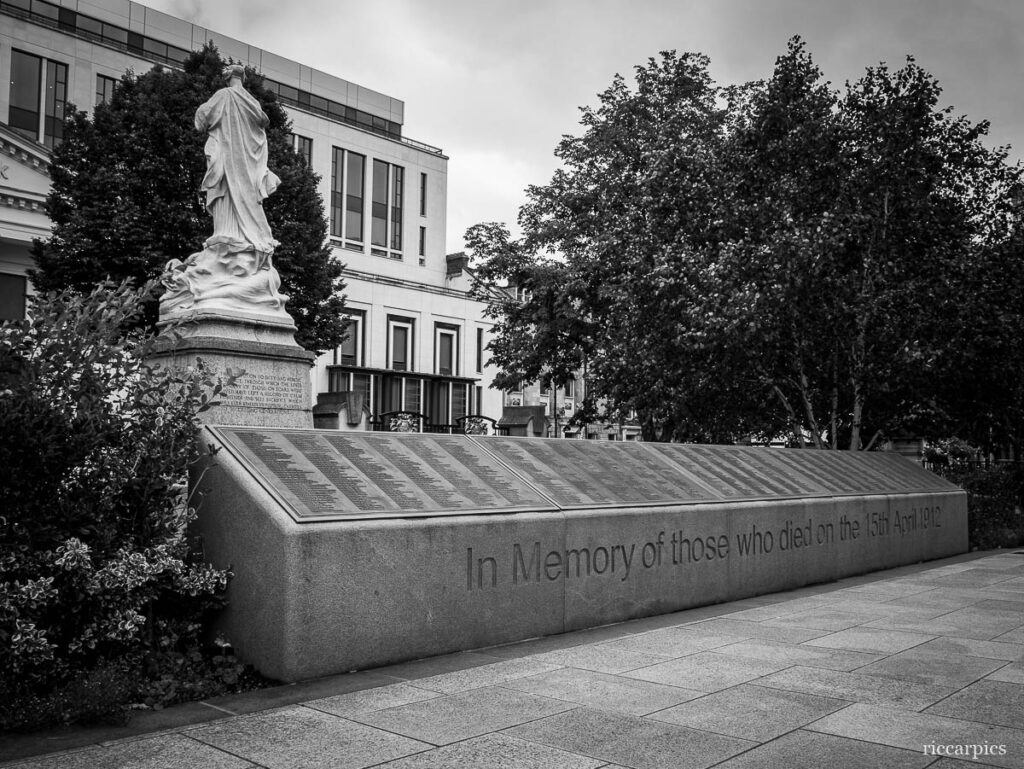 Titanic Memorial Garden in the grounds of City hall