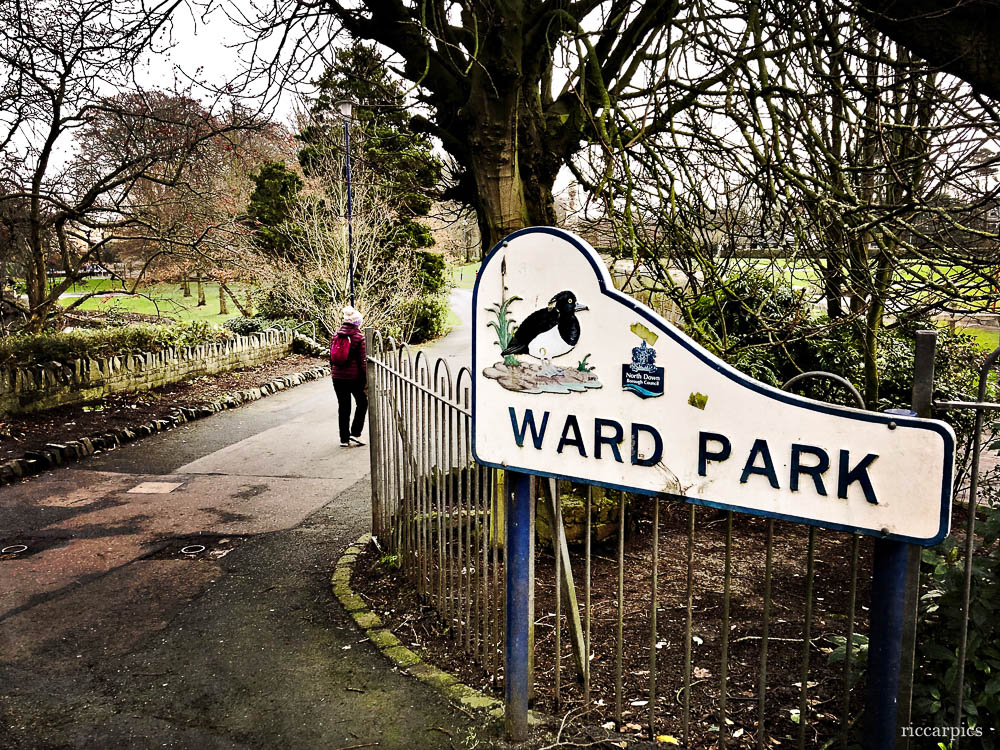 Entrance to Ward Park, Bangor, Northern Ireland